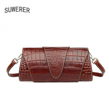 SUWERER 2020 New Genuine Leather Women bag fashion Luxury handbags famous brand leather bag real cowhide clutch bags suwerer 2018 new women genuine leather bag famous brand fashion luxury cowhide handbags handmade embossing leather art bags