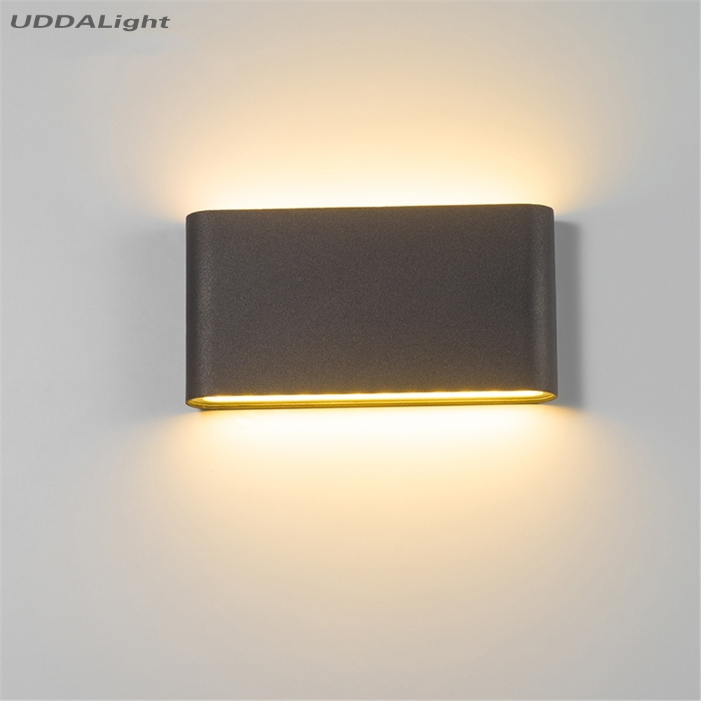 Modern Waterproof Outdoor 12W LED Wall Lamp IP65 Aluminum UP And Down Wall Light Garden Porch Sconce Decoration Light 110V 220V