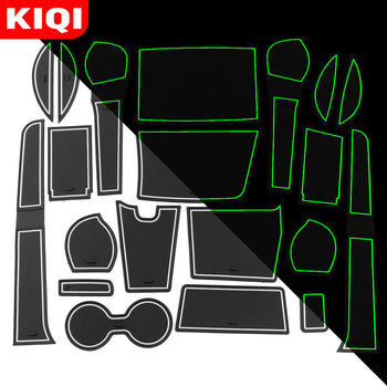 KIQI 20Pcs Door Groove Mat for Toyota Fortuner SW4 2008 - 2016 2017 2018 Accessories Anti-Slip Cup Cushion Mats Car Styling image