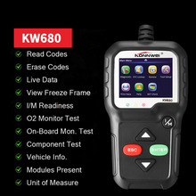 With Multi-languages Car Diagnosis OBD 2 Professional 2.4 inch Automotive Scanner Car Inspection