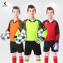 Костюм для детей и взрослых, форма вратаря, футбольные майки, штаны, Футбольная Одежда, тренировочная форма, Защитные комплекты, индивидуальная печать