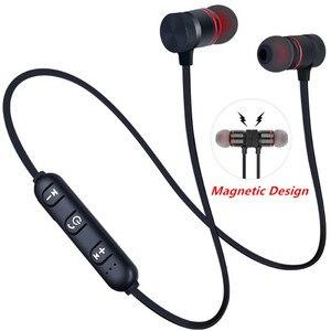 Bluetooth наушники спортивные шейные Металлические Магнитные беспроводные наушники бас стерео наушники с микрофоном для Xiaomi Huawei