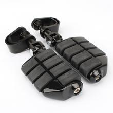 Motorcycle Rubber Left & Right Sides Footrest Foot Pegs Floorboard For Harley Iron XL 883 1200 Street 750 500 Touring Custom