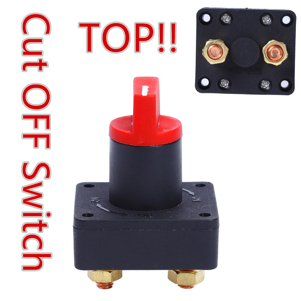 Battery Isolator Switch Power Kill Cut Off On//Off Switch Disconnect Car Van
