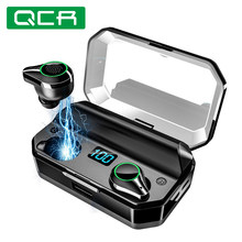 QCR 5.0 TWS Bluetooth Earphones 9D Stereo HiFi Wireless Headphone IPX7 Waterproof 7000mAh Power Bank With Microphone Touch Key(China)