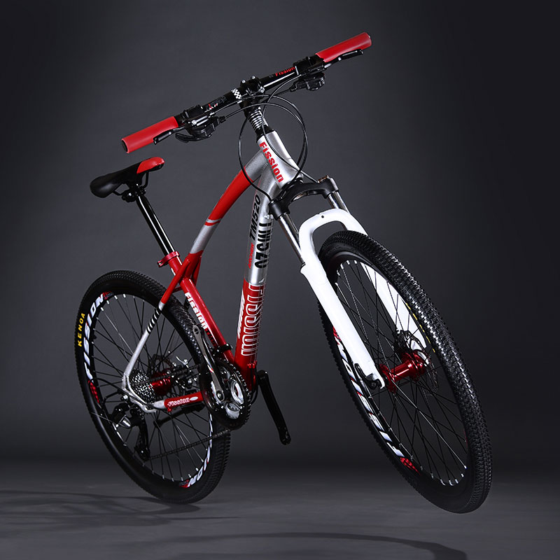 Mountain Bike Double Disc Brake 26 Inch 27 Speed Shift Shock Aluminum Alloy Wheel Man And Women Adult Student Bicycle