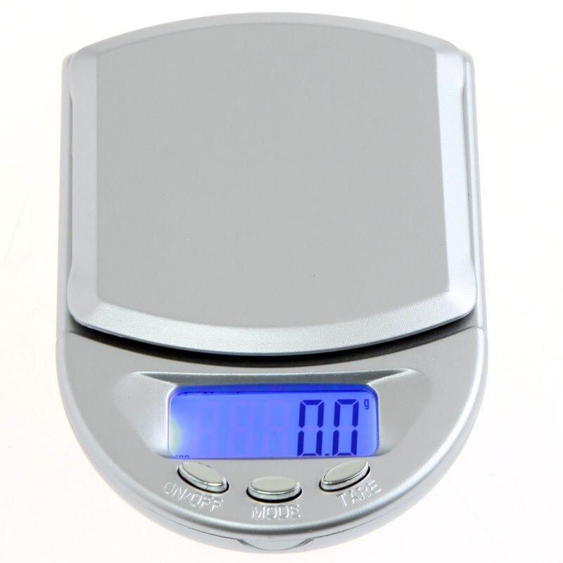 Mini 500g digital bolso escalas jóias joalheiros azul display lcd 500g/ 0.1g balança de peso eletrônico portátil