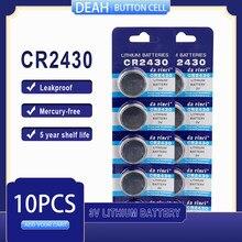 10 PÇS/LOTE CR2430 3V CR Bateria De Lítio 2430 DL2430 BR2430 ECR2430 para Assista Calculadora Computador de Controle Brinquedos Baterias Botão