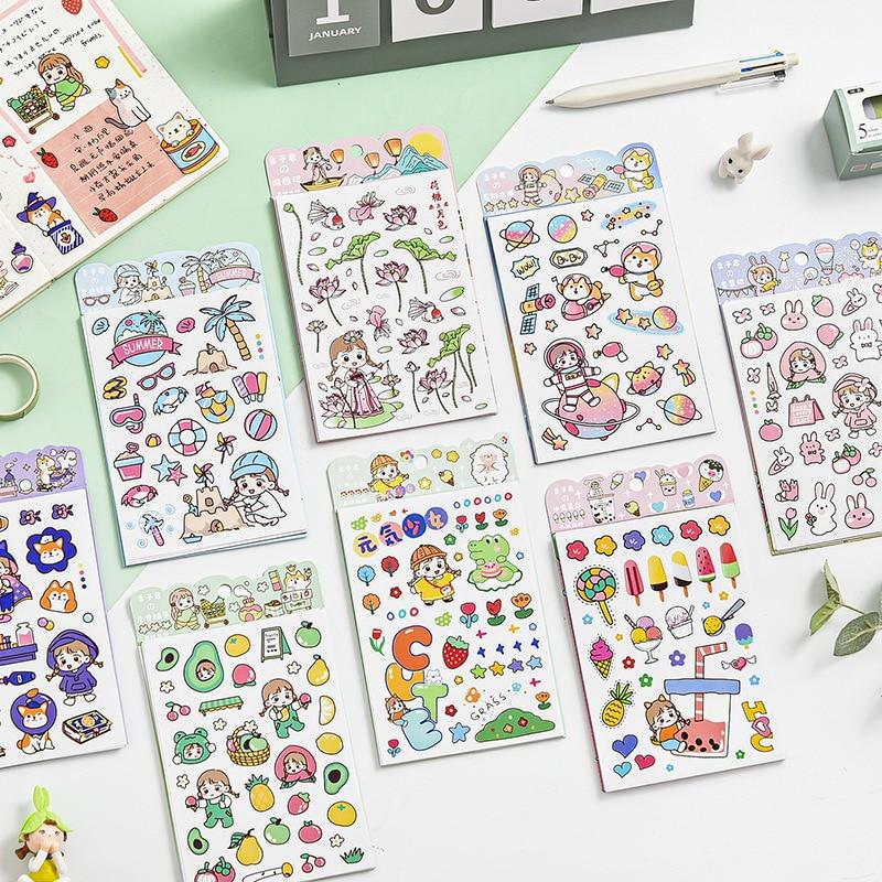 6 pcs/set Lizi Girl 2nd Season PVC Delicate Stickers Korean Cute Stickers Scrapbooking DIY School Of