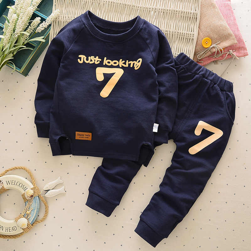Children's Clothes 2019 Autumn and Winter Boys and Girls Long-sleeved O-neck Clothes 2-6 Years Old Baby T-shirts and Pants Sets