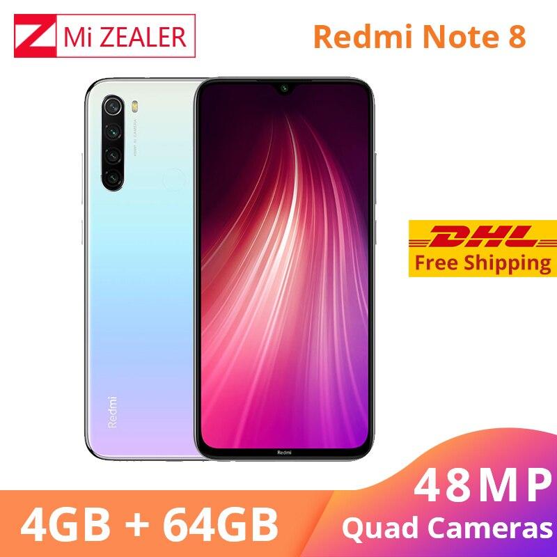 Xiaomi Redmi Note 8 4GB RAM 64GB ROM Octa Core Smartphone Snapdragon 665 48MP 6.3
