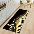 3D Придверный коврик с пианино и буквенным принтом, коврики для прихожей, кухни, современные коврики для гостиной, балкона, ванной, скандинав...