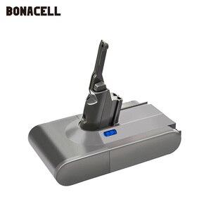 Image 2 - Bonacell V8 4000mAh 21.6 فولت بطارية ل دايسون V8 بطارية المطلق V8 الحيوان ليثيوم أيون SV10 مكنسة كهربائية بطارية قابلة للشحن L70