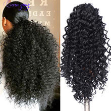Синтетические короткие кудрявые накладные волосы queenyang для