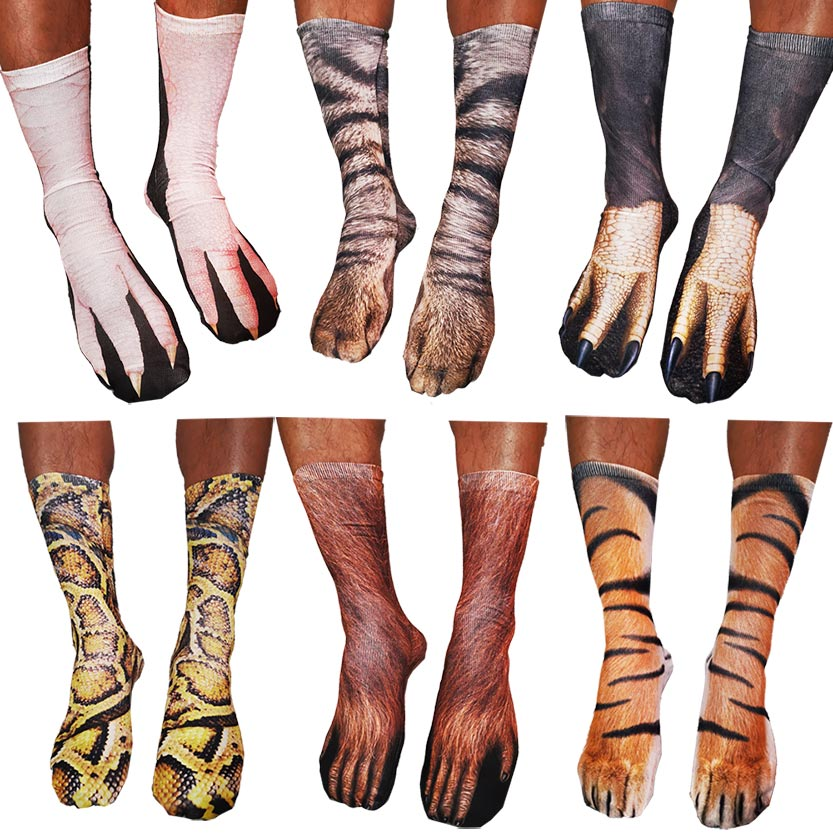 Cotton Socks 3d Animal Socks Paw Print Socks 3d Socks Animal Paw Print Socks Printed Socks Men Unisex Socks 3d Women Happy Socks