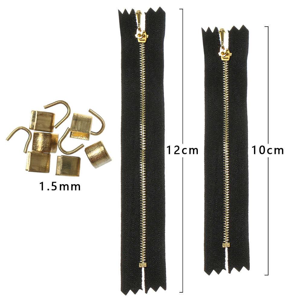 1Pcs Mini Zipper untuk DIY Membuat Pakaian Boneka Handmade Jahit Scrapbooking Pakaian Bordiran Boneka Pakaian Ritsleting Aksesoris