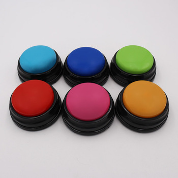6 Colors/set Light Blue, Pink, Blue, Green, Orange And Red Custom 30s Recordable Sound Time Answering Button M10