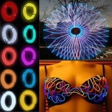 Цветной 3 м гибкий EL провод водонепроницаемый неон светодиод свет полосы для танцев вечеринки автомобиля декора обуви с контроллером