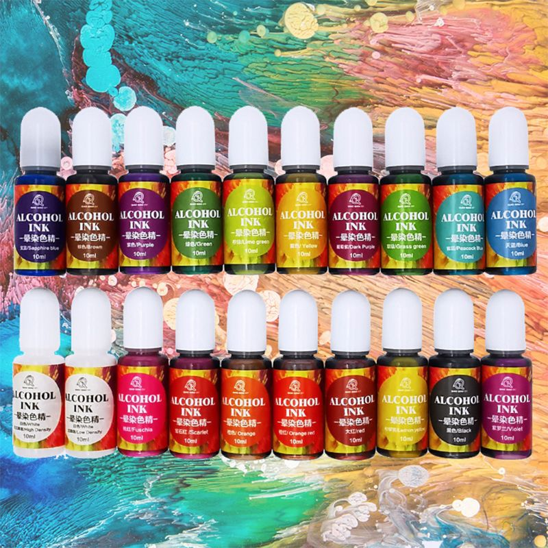20 Colours10ML Epoxy Resin Pigment Liquid Colorant Dye Ink Diffusion Resin Jewelry Making