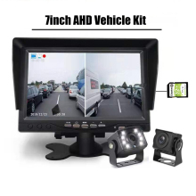 1920*1080P DVR Met Sterrenlicht Nachtzicht Voor Achter View Parking Camera Recorder 7 inch dual IPS Screen Monitor