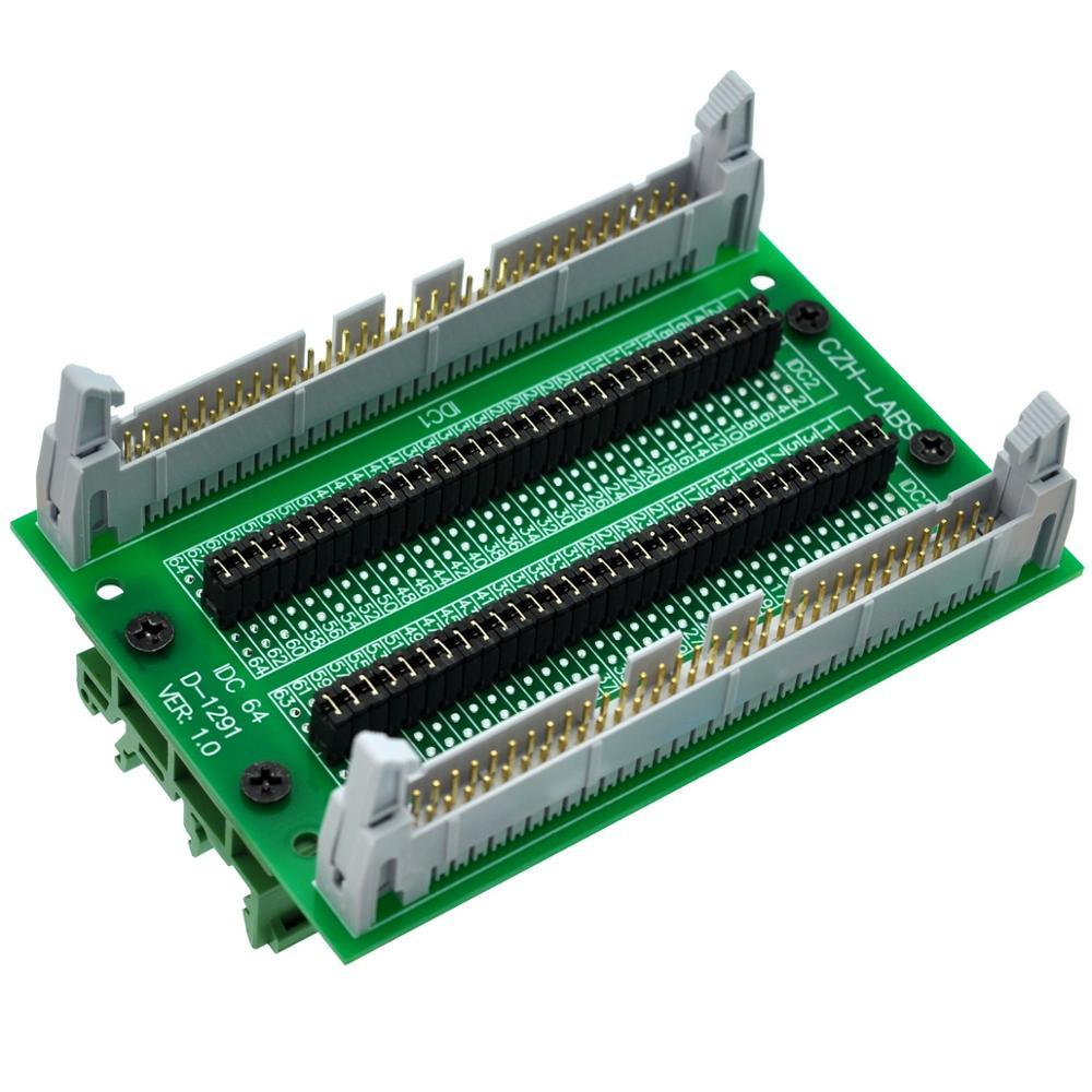 CZH-LABS DIN Rail Mount IDC64 2x32Pin 0.1