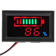 YB27VE Электрический Автомобильный цифровой светодиодный прибор для измерения напряжения и электричества с двойным измерителем заряда батареи