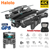 Halolo S167 5G GPS Foldable Profissional Drone with Camera 4K HD Selfie Wide Angle RC Quadcopter Helicopter Toy E520S F11 SG907