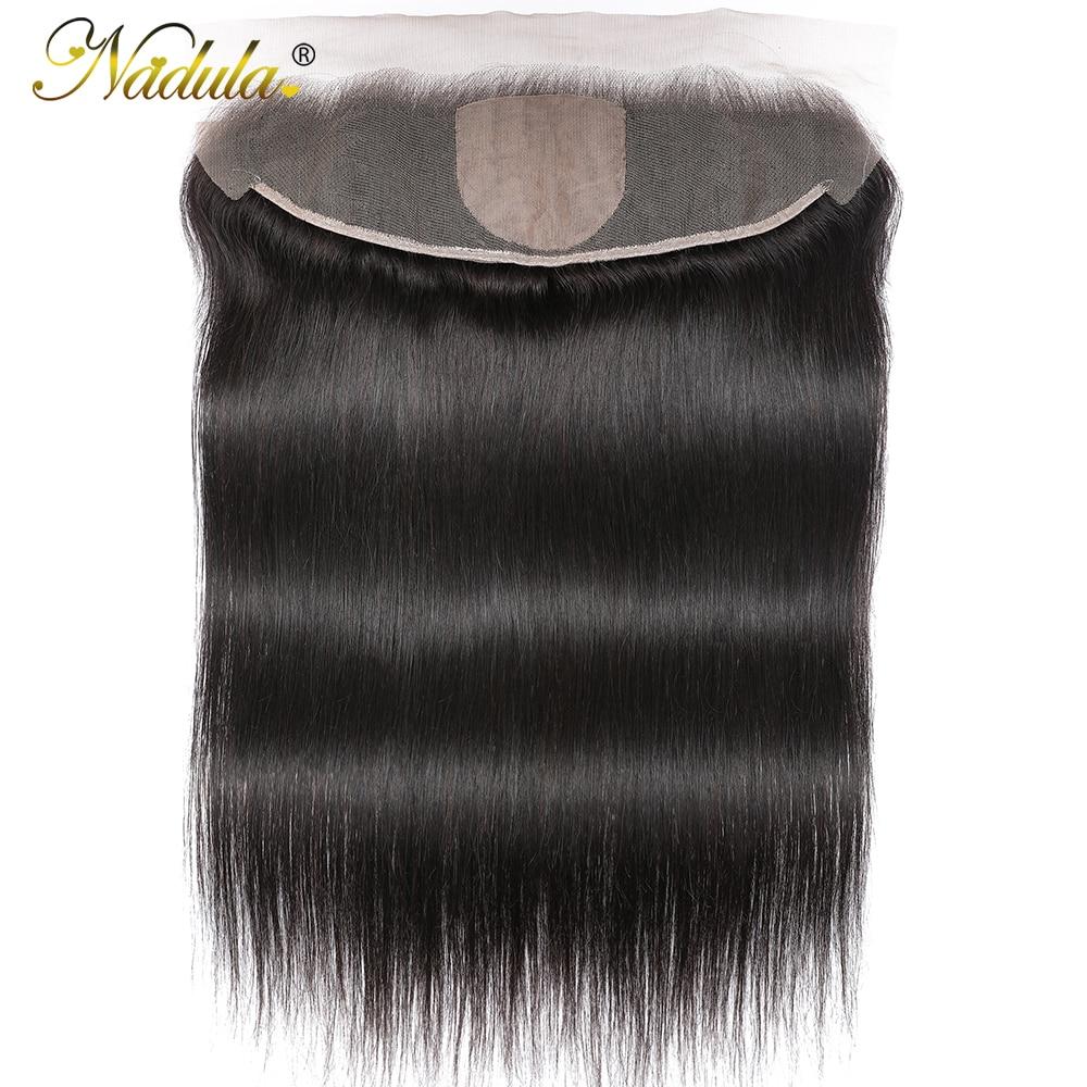 Nadula Straight  13x4 Lace Frontal Closure  Straight Hair Frontal 4x4 Silk Base Closure 1