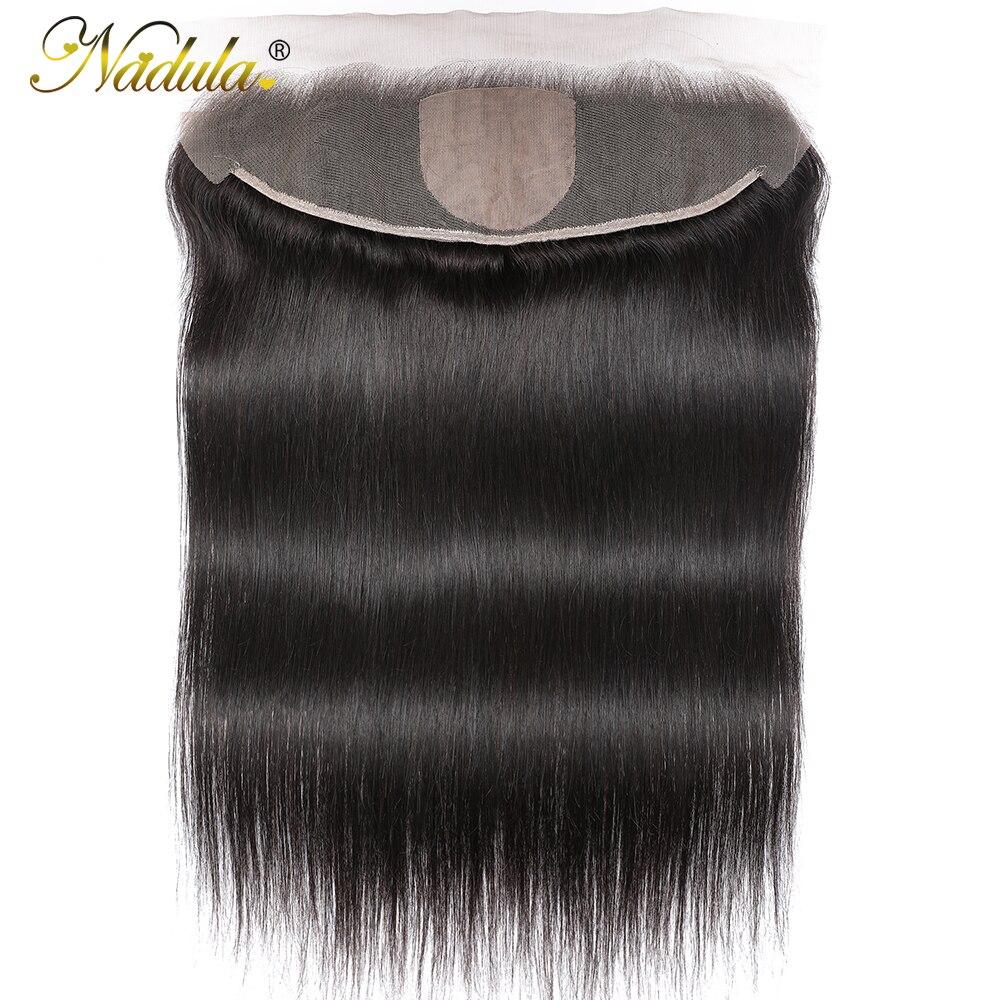 Perruque Lace Frontal Closure brésilienne naturelle – Nadula, cheveux lisses, Base en soie, 13x4, 4x4