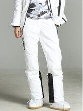 2019 Pantaloni Delle Donne di Inverno Bianco Pantaloni Da Sci Donne di Snowboard Pantaloni Da Neve Femminile di Sci E Snowboard Sci Tute e Salopette Impermeabile