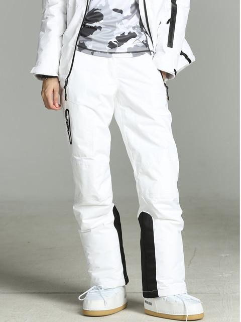 2019 Winter Pants Women White Ski Pants Women Snowboard Snow Trousers Female Skiing And Snowboarding Ski Overalls Waterproof
