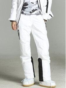 Image 1 - 2019 חורף מכנסיים נשים לבן סקי מכנסיים נשים סנובורד שלג מכנסיים נקבה סקי וסנובורד סקי סרבל עמיד למים