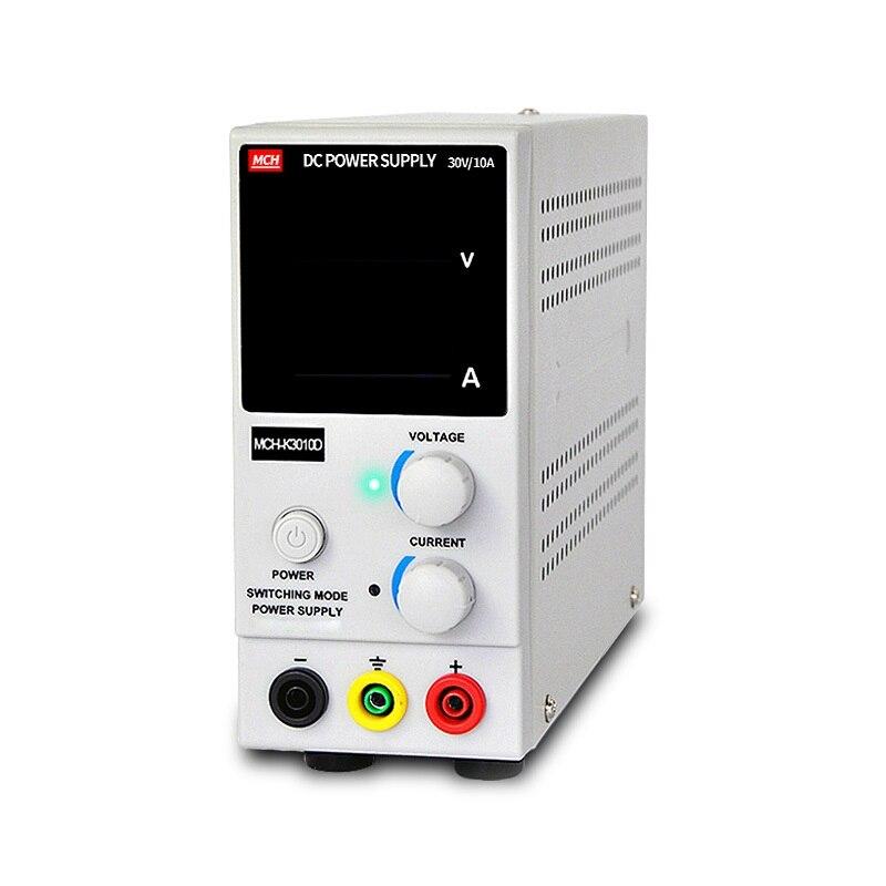 MCH-K3010D 0 ~ 30V 0 ~ 10A Portable Mini DC régulé réglable DC alimentation téléphone Portable/ordinateur Portable réparation puissance