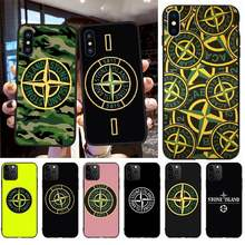 PENGHUWAN Stone and Island Logo Black TPU Soft Rubber Phone Cover for iPhone 11 pro XS MAX 8 7 6 6S Plus X 5S SE XR case(China)