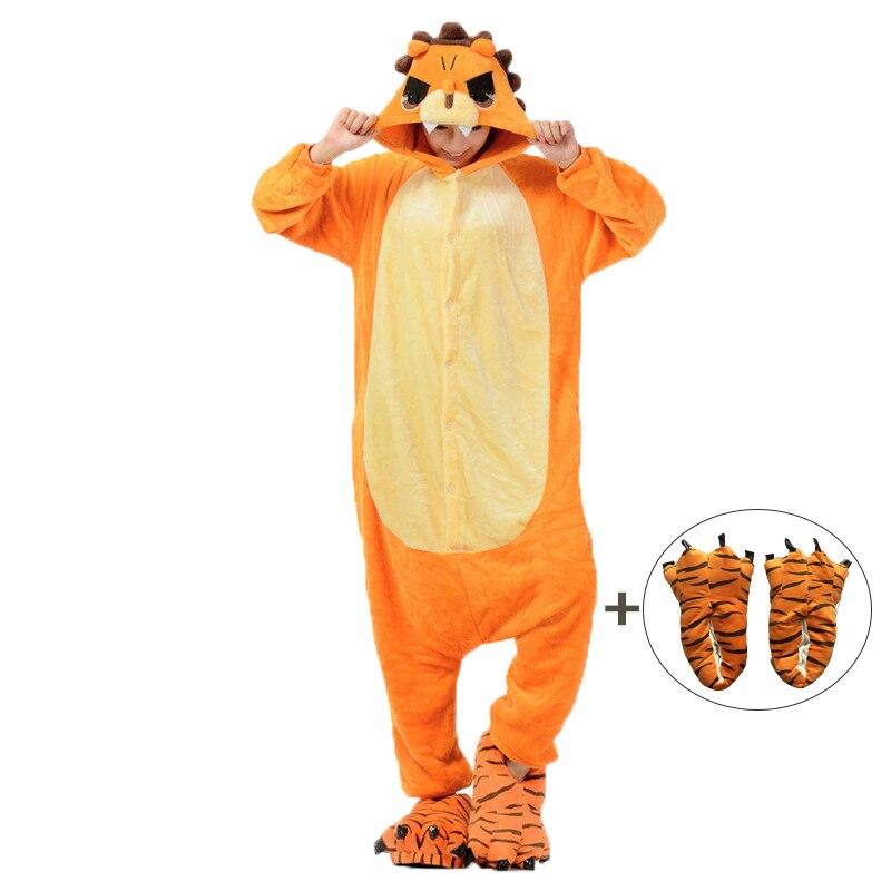 Cartoon Kigurumis Onesies Sleepwear For Adult Animal Lion Women Pajama Homewear Jumpsuit Pyjamas Cosplay Unisex Costume