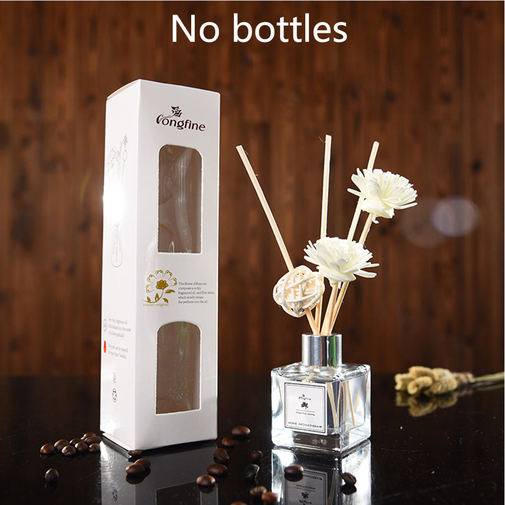 Purifying Air Home Office Exquisite Aromatherapy No Fire Fragrance Car Portable DIY Decoration Rattan Sticks Aroma Diffuser Set