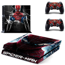 Spider-Man Play station 4 Stickers,PS 4 Sticker PS4 Skin Decal Pegatinas Adesivo For PlayStation 4 console and 2 controller
