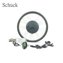 Schuck 48V1000W elektrische fahrrad BLDC schnee bike 20 oder 26 zoll vorderrad hub motor fett reifen mit LCD6 display