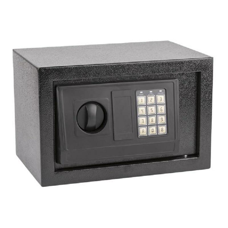 E20EA Small Size Electronic Digital Steel Safe Strongbox Black