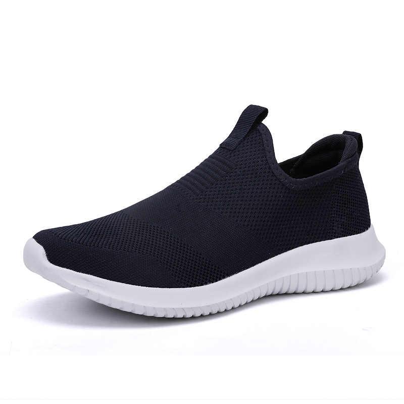 ขายร้อนแฟชั่นผู้ชายรองเท้าผ้าใบตาข่ายผู้ชายรองเท้า Breathable น้ำหนักเบาลูกไม้สบายๆรองเท้าสบายๆขนาด Unisex 35-48