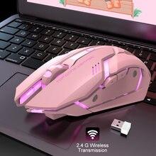 Беспроводная оптическая мышь беспроводная usb для ноутбука милая