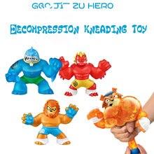 Brinquedos de venda quente goo jit zu herói super elástico animal boneca borracha homem beliscando música descompressão respiradouro brinquedo espremer brinquedos