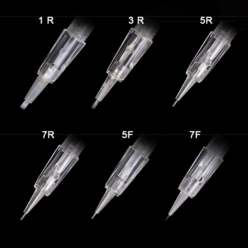 Spiral Needle 100 Pcs For Charmant Machine Convenient 1D 1R 3R 5R 5F 7F Screw Needles Permanent Makeup Tattoo Machine Tattoo Set
