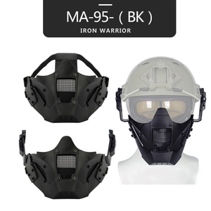 Image 5 - Airsoft Paintball Hunting Mask Tactical Combat Half Face Mask Military War Game Protective Face Mask Black tan green