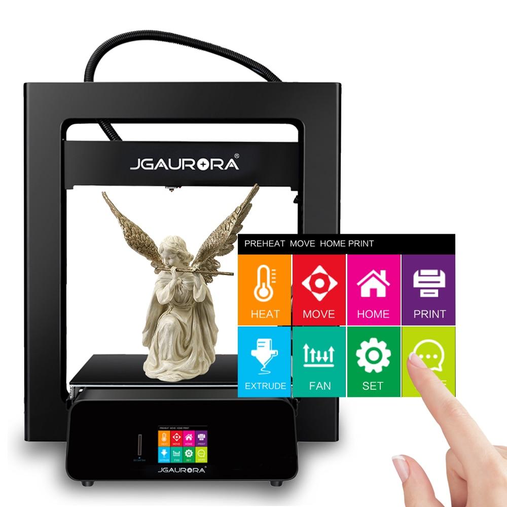 JGAURORA 3D Printer A5 Updated A5S Full Metal Diy Kit Extreme High Accuracy Large Print Size 305x305x320mm Impressora 3d 4