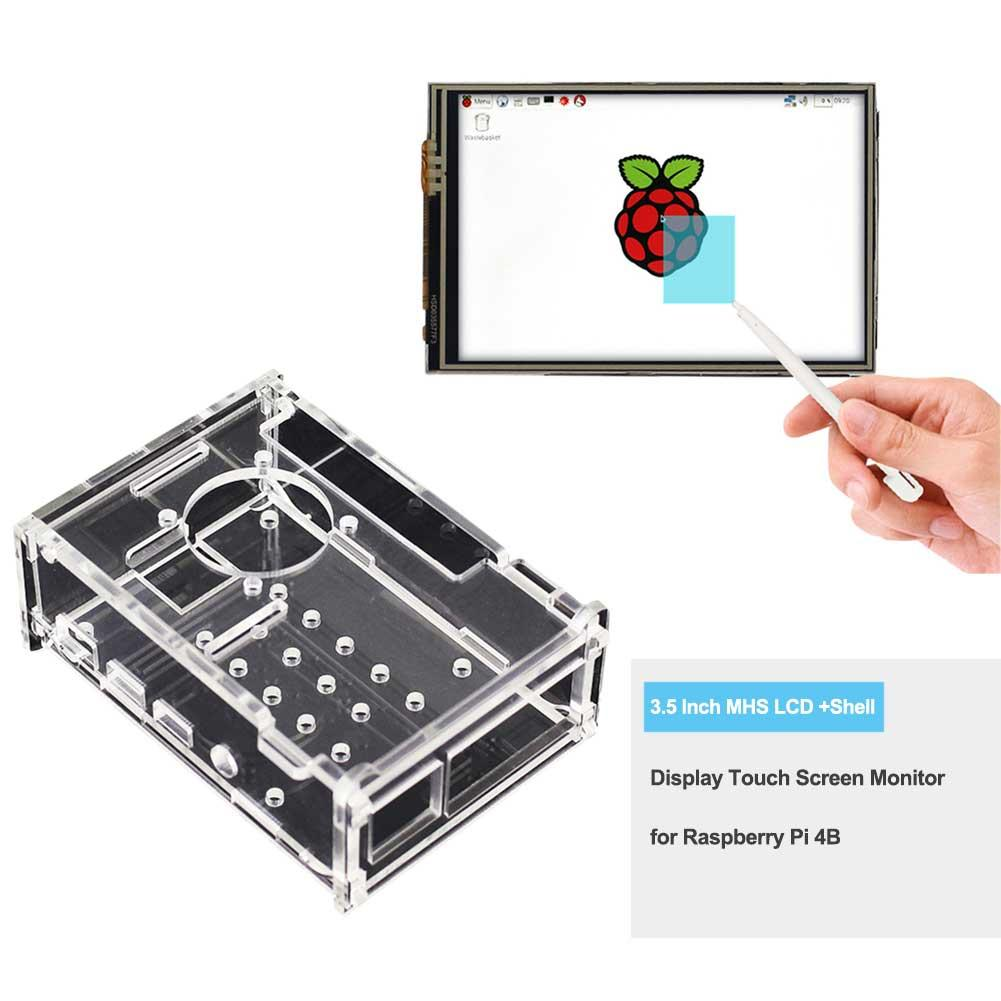 3.5 Inch MHS LCD +Shell Display Touch Screen Monitor For Raspberry Pi 4B
