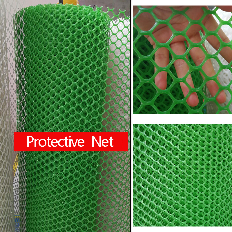 GIEMZA Plastic Garden Netting Protective Net Balcony Trellis Invisible Grid Stairs Safe Net Fall Protection Fence