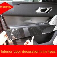 Für LR Range Rover Velar chrome Interior tür dekoration trim 4 stücke-in Chrom-Styling aus Kraftfahrzeuge und Motorräder bei