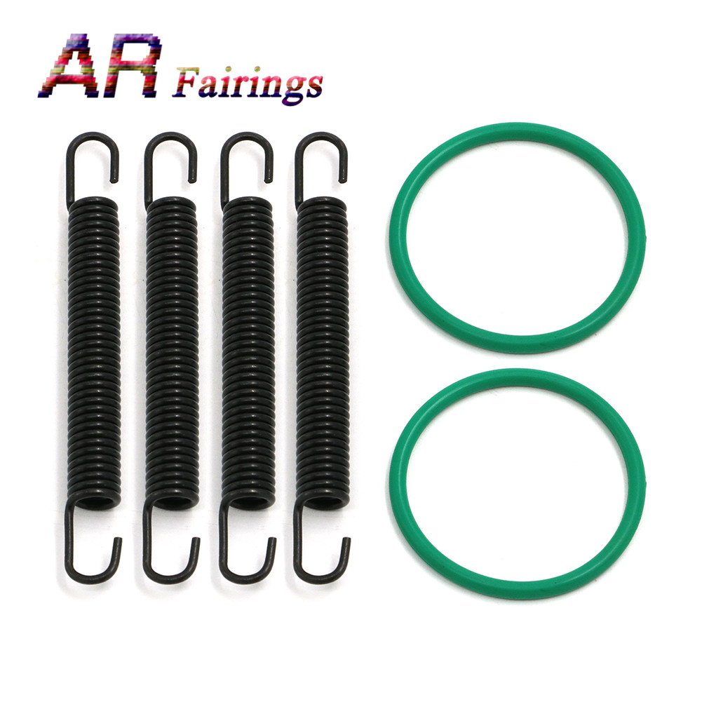 For Yamaha YFZ350 BANSHEE 1987 - 2006 Exhaust Pipe Springs & O-Ring Kit