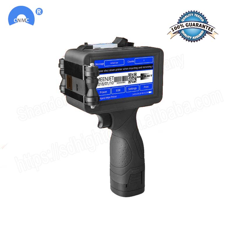 100~240V Handheld Smart Date Coder Inkjet Printer LED Screen Ink Coding machine